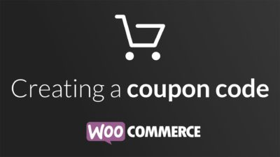 Creating a coupon code in WooCommerce
